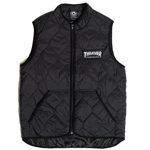 Thrasher Thrasher Quilted Logo Vest Pure Board Shop