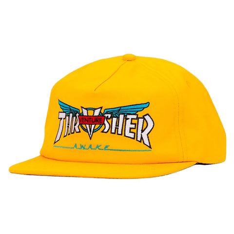 Thrasher Magazine Venture Collab Snapback Hat Yellow Pure Board Shop