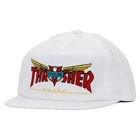 Thrasher X Venture Snapback Hat White pure board shop