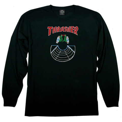 Thrasher Doubles Long Sleeve T-Shirt Black LSDworldwide Thrasher Fall 2019 pure board shop
