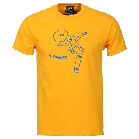 Thrasher KCUF T-Shirt Gold pure board shop