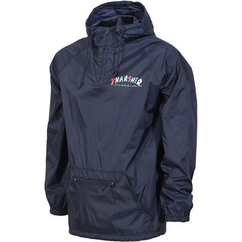 Thrasher Knock Off Pullover Anorak Jacket Navy pure board shop