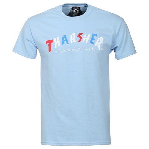 Thrasher Knock Off T-Shirt light blue pure board shop