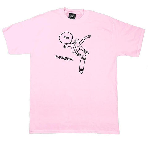 Thrasher KCUF T-Shirt Pink pure board shop