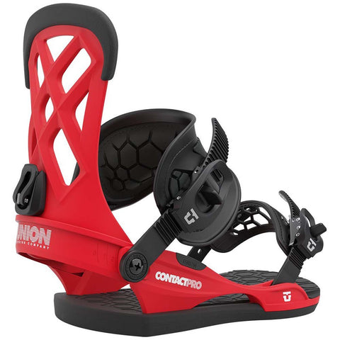 Union Contact Pro Mens Snowboard Bindings 2021 Red Pure Board Shop