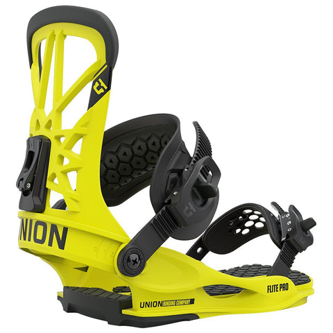 Union Flite Pro Mens Snowboard Bindings 2021 Hazard Yellow Pure Board Shop