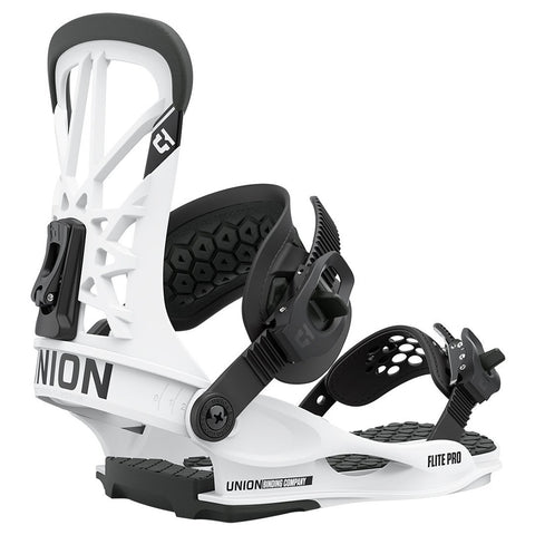 Union Flite Pro Mens Snowboard Bindings 2021 White Pure Board Shop