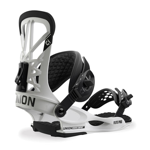 Union Flite Pro Mens Snowboard Binding 2019 White Union Binding Co 2019 pure board shop