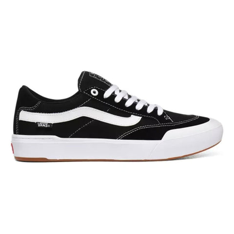 Vans Berle Pro Skate Shoe Black White VN0A3WKX6BT pure board shop