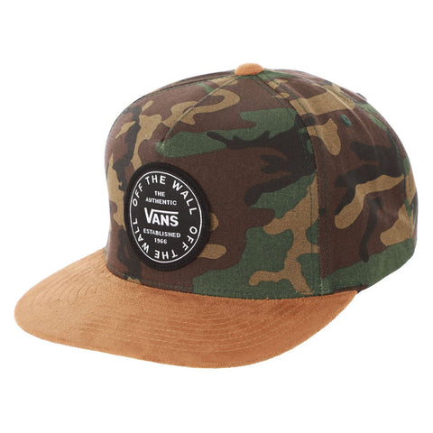 Vans Old Skool Circle Patch Snapback Hat Camo VN0A45FF97I pure board shop