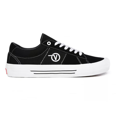 Vans Saddle Sid Pro Skate Shoes Black White pure board shop