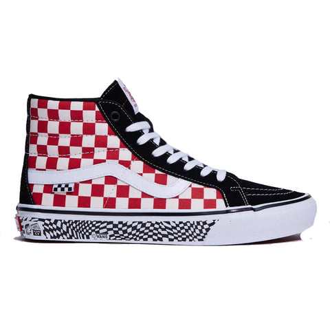 Vans Skate Sk8-Hi Reissue Grosso Skate Shoes 84 Black Red Checker Pure Board Shop