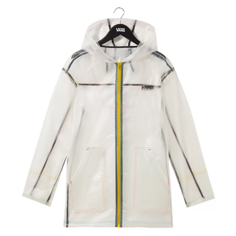 Vans Womens Thread it Parka Jacket Clear White VN0A4MVLWHT Pure Board Shop