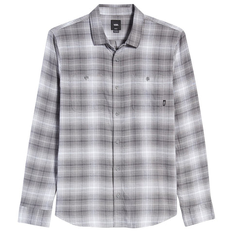 Vans Banfield III Flannel Button Up Shirt White Plaid VN0A3HL8WHT Fall 2019 pure board shop