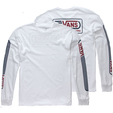 Vans Blendline Overside Long Sleeve T Shirt White Vans Fall 2018 pure board shop