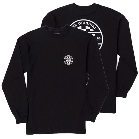 Vans Checker Co Long Sleeve T Shirt Black Vans Holiday 2018 pure board shop