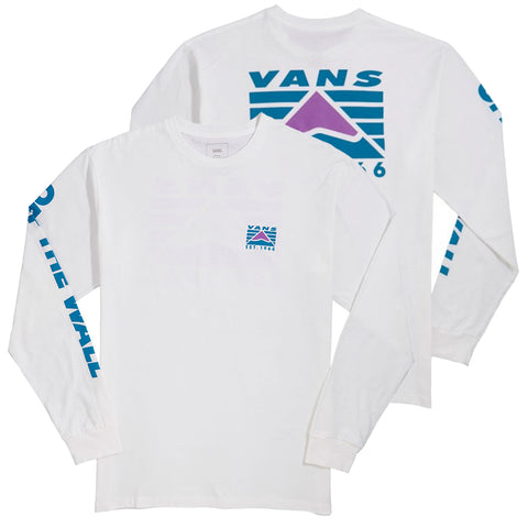 Vans Hi Point Long Sleeve T Shirt White Pure Board Shop