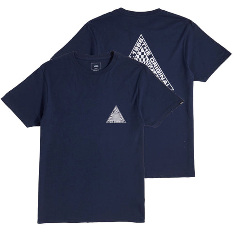 Vans Hypnotics Short Sleeve T Shirt Dress Blue VN0A3HF1LKZ front Vans summer 2018 pure board shop