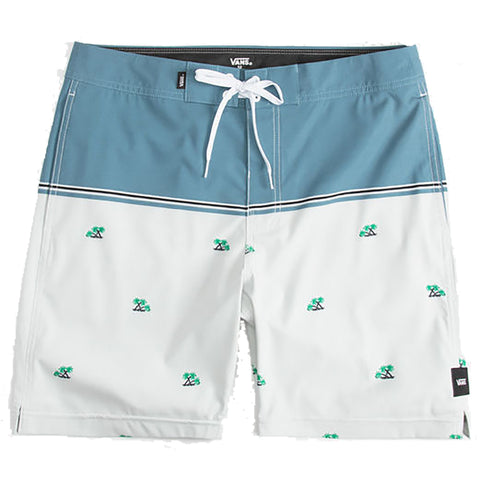 Vans Newland Mens Boardshorts Swim Trunks White Palm pure board shop