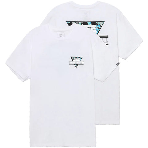 Vans Retro Tri T Shirt White VN0A312PRM7 Vans Summer 2018 pure board shop