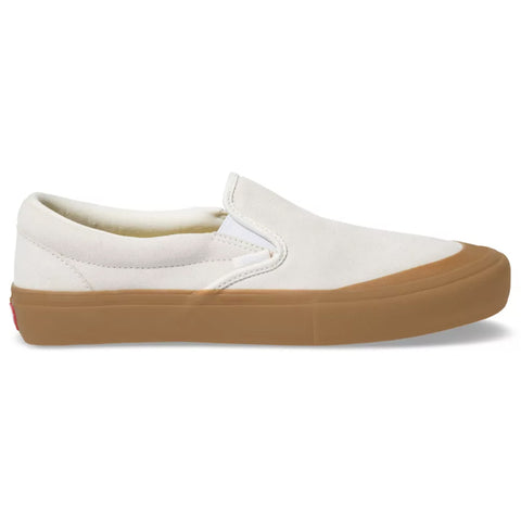Vans Slip On Pro Skate Shoes Marshmallow Gum 47VOVM Rubber Toe Cap pure board shop