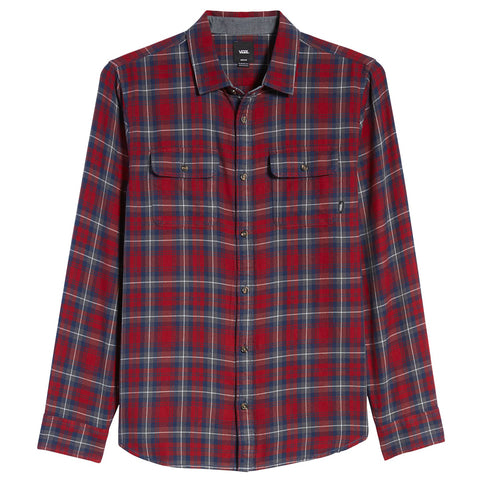 Vans Sycamore Flannel Button Up Shirt Biking Red Plaid VN0A36HM1OA Vans Fall 2019 pure board shop