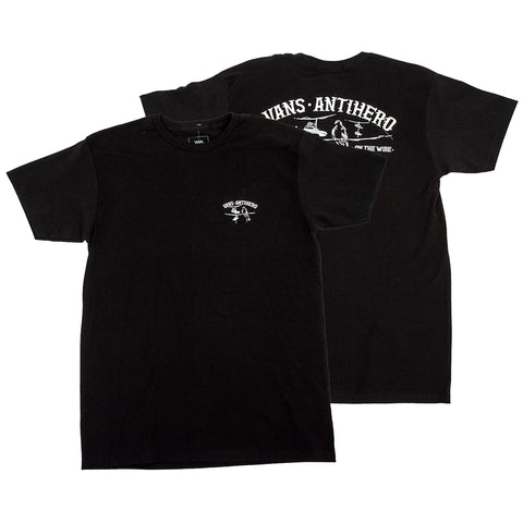 Vans X Anti Hero T Shirt Black VN0A3WAQBLK Vans Spring 2019 pure board shop