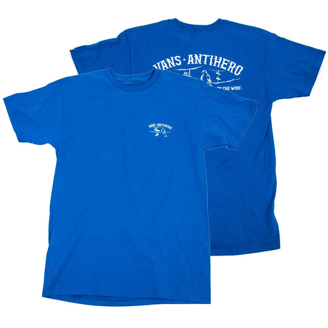 Vans X Anti Hero T Shirt Royal Blue VN0A3WAQRYB both Vans Spring 2019 pure board shop