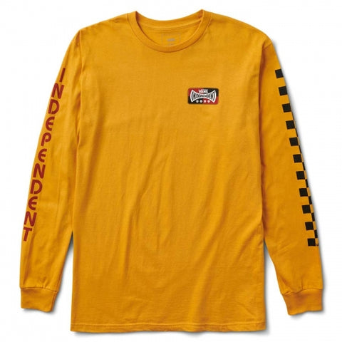 Vans X Independent Truck Co Logo Long Sleeve T Shirt Sunflower VN0A3HS1HF0 Vans Fall 2018 pure board shop