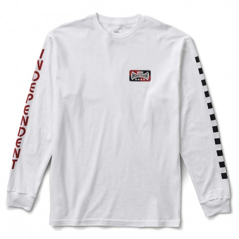 Vans X Independent Truck Co Logo Long Sleeve T Shirt White VN0A3HS1WHT Vans Fall 2018 pure board shop