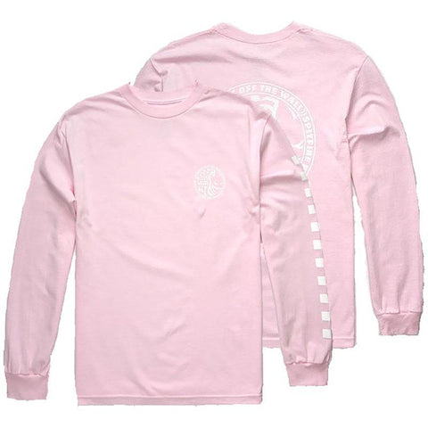 Vans X Spitfire Long Sleeve T Shirt Pink White Vans Spring 2018 pure board shop