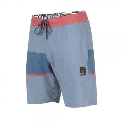 Volcom 3 Quarta Stoneys Mens Boardshort Ash Blue pure board shop