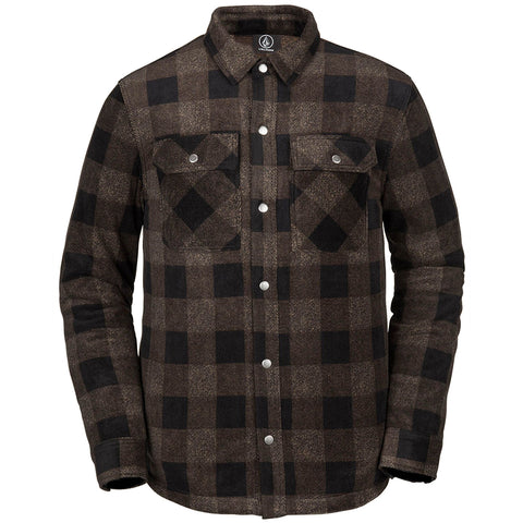 Volcom Bowery Polar Flannel Jacket Old Gold A4831805OGD pure board shop
