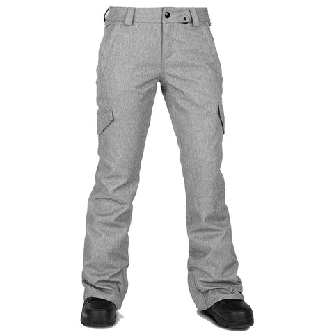 Volcom Bridger Insulated Womens Snowboard Pant Heather Grey H1252001HGR pure board shop
