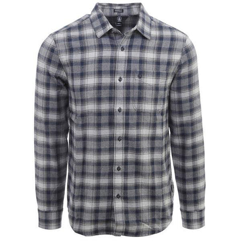 Volcom Paynes Long Sleeve Flannel Pewter - Pure Boardshop