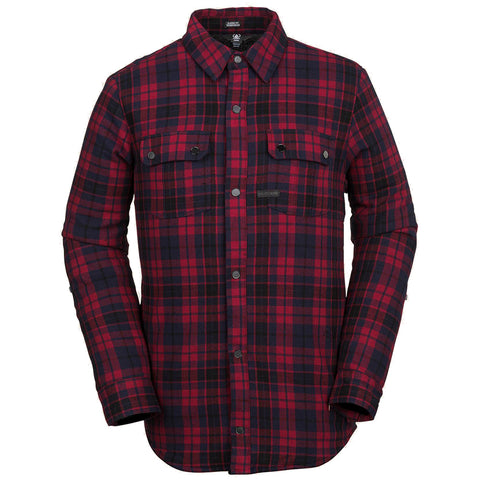 Volcom Sherpa Flannel Jacket Red G0151903RED pure board shop