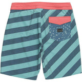 "Volcom Stripey Stoney 19"" Boardshort sea blue back pure board shop"