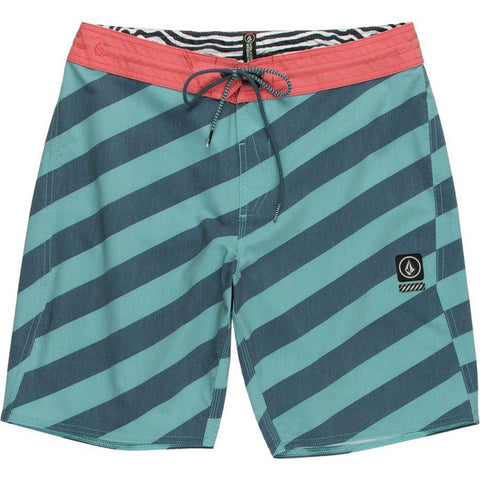 "Volcom Stripey Stoney 19"" Boardshort Sea Blue pure board shop"