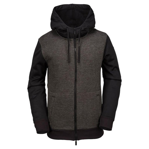 Volcom Wool Bond Zip Hooded Fleece Black pure board shop
