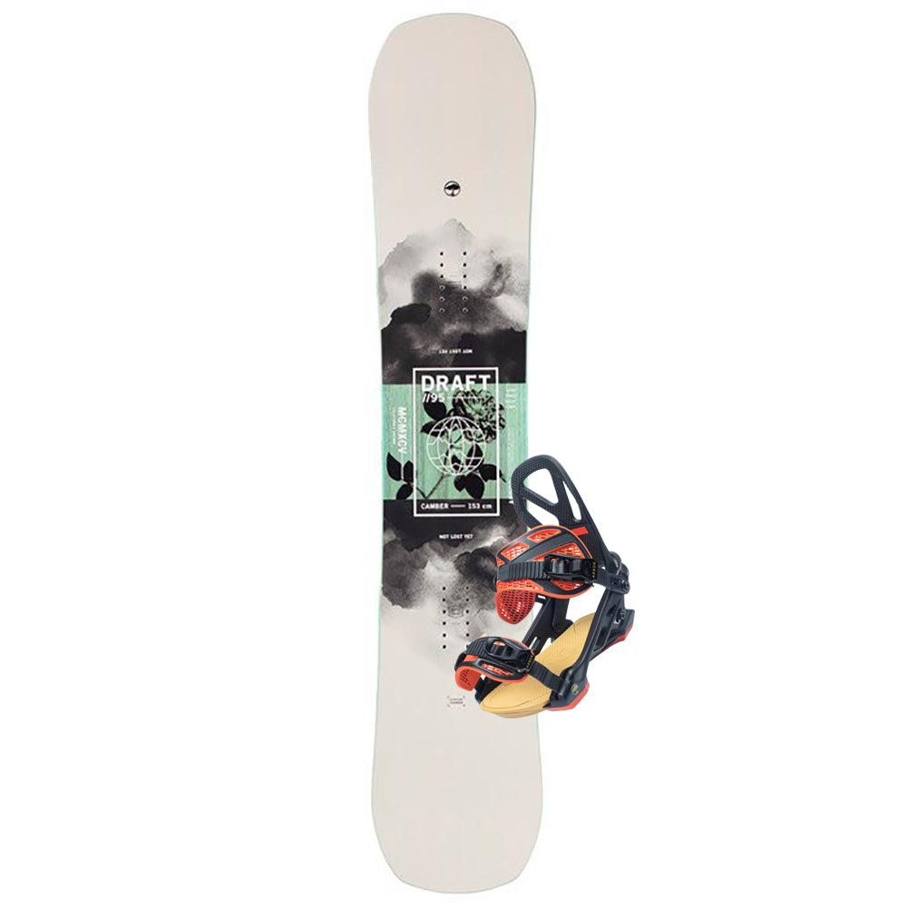 Arbor Draft Snowboard + Hemlock Binding Package 2021