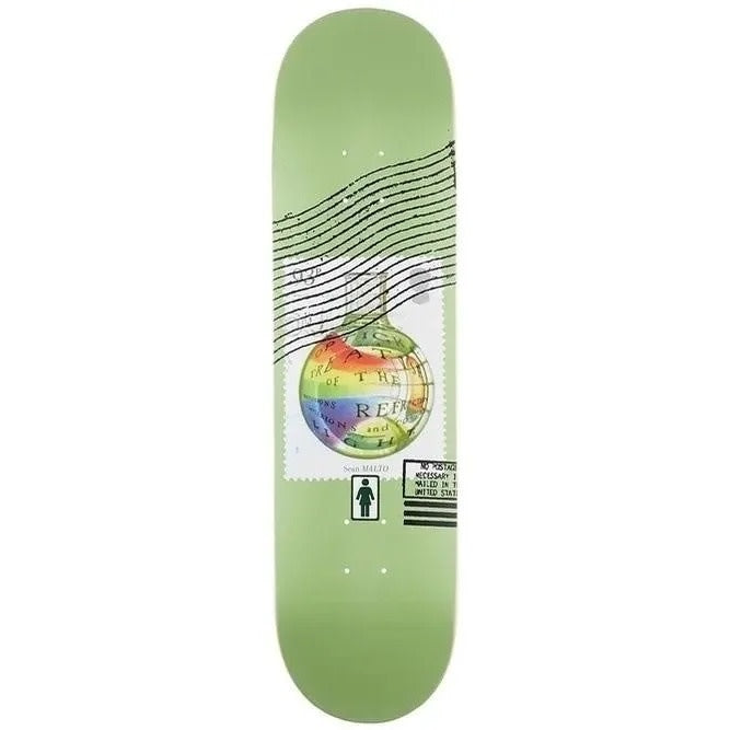 Girl Malto Postal Series Skateboard Deck 8.25