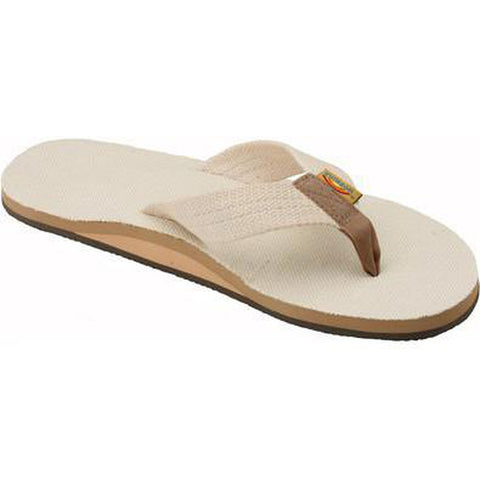Rainbow Single Layer Hemp Men's Sandal