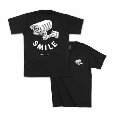 Sketchy Tank Smile T-Shirt