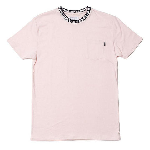the Quiet Life Jacquard Crewneck T Shirt Pink The Quiet Life Summer 2018 pure board shop
