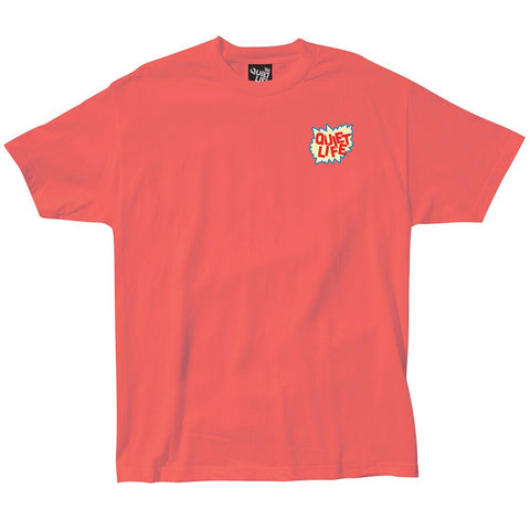 The Quiet Life Lichtenstein Premium T-Shirt Coral The Quiet Life Spring 2018 Drop 1 pure board shop