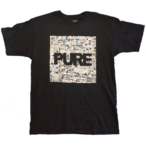 PURE X Vinnie Hager Block Tee - Pure Boardshop