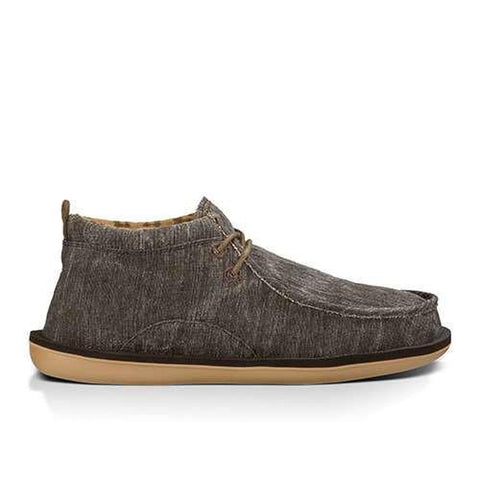 Sanuk Men's Walla Sidewalk Surfers Shoes Dark Brown