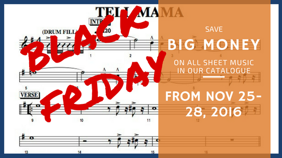#BlackFriday2016 Sheet Music Deals Are Coming Your Way!