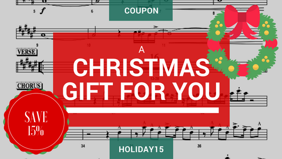 Christmas coupon sheet music
