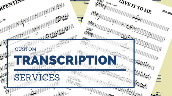 sheet music notes transcription service